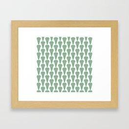 Girls'/Women's Lacrosse Sticks - Green Framed Art Print
