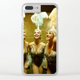 1950's Showgirls Clear iPhone Case