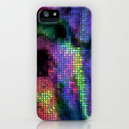 Dark fluO electrOnic Jacquard  iPhone Case