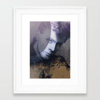 bowie Framed Art Prints featuring BOWIE by michael pfister