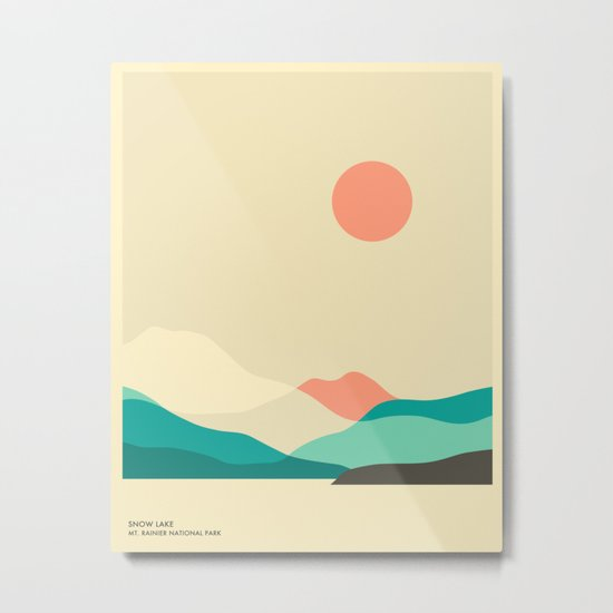MT. RAINIER NATIONAL PARK, SNOW LAKE Metal Print