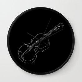 Violin in lines Wall Clock