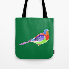 Bird - Green Tote Bag