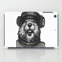 beaver iPad Cases featuring Mr. Beaver by Mitzek