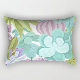 Tropical Cactus Pattern Rectangular Pillow