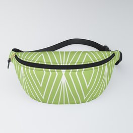 Simple Modern Diamond Lines Chartreuse Fanny Pack