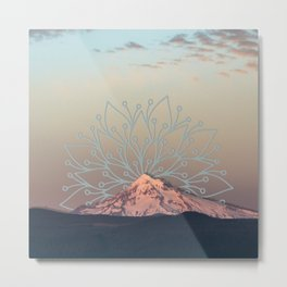 Mountain Mandala Metal Print
