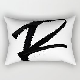 Letter R Ink Monogram Rectangular Pillow