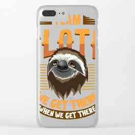 Sloth T-Shirt for slow runners running teams ;-) Clear iPhone Case