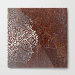 Mandala - Rusty Metal Print