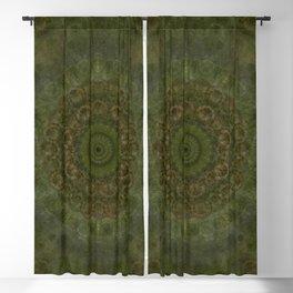 """Autumn mandala"" (Green-Grey Pattern) Blackout Curtain"