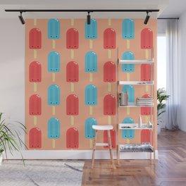 Cute Ice Pop Pattern Wall Mural