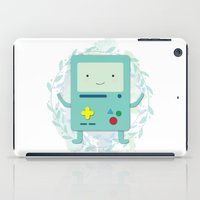 bmo iPad Cases featuring BMO love by fox bear designs