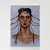 fka twigs Stationery Cards featuring FKA Twigs by Alexander Scott
