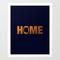 Arizona home state faux copper foil print Art Print
