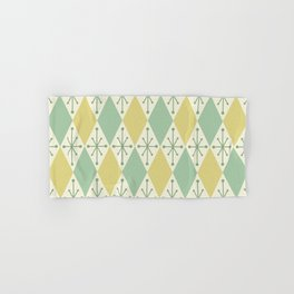 Diamonds and Starbursts Mint Hand & Bath Towel