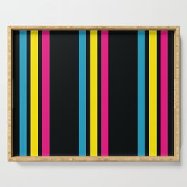 Stripes on Black Serving Tray