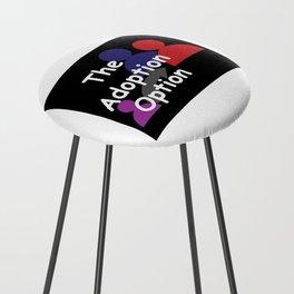 """The Adoption Option"" TV Show Logo Counter Stool"