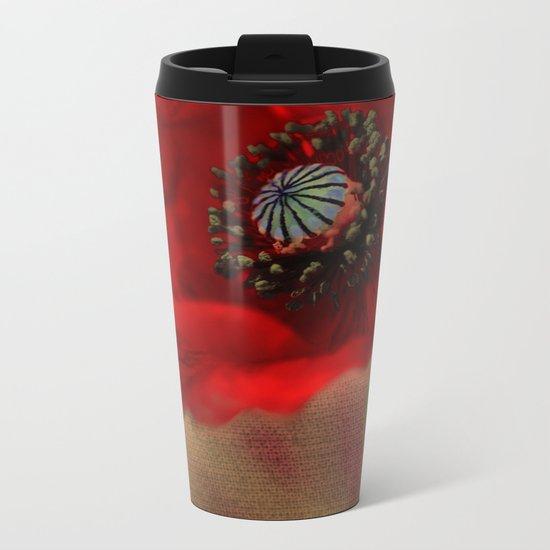 Poppies(romantic). Metal Travel Mug