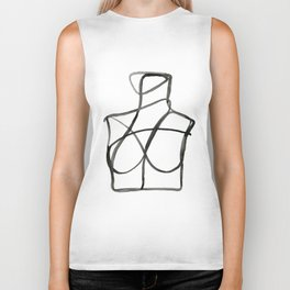 The Woman II Line Artwork Biker Tank