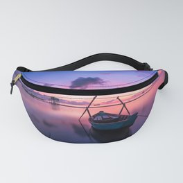 Rowboat and Sunrise on the Water Fanny Pack