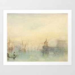 "J.M.W. Turner ""Venice: The New Moon – The Dogana from the steps of The Hotel Europa"" Art Print"