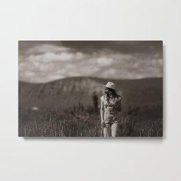 Toni, Walking in Landscape Metal Print