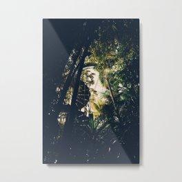 Tropical Greenhouse Staircase Metal Print