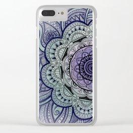 Mandala Violet Clear iPhone Case