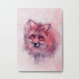 Red fox art Metal Print