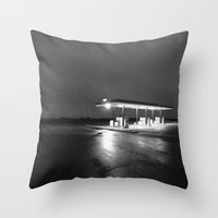 oil Throw Pillows featuring OIL by Anthony Morell