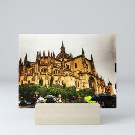 Segovia in the Rain Mini Art Print