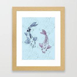 Koi carps Framed Art Print