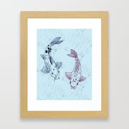 Koi carps Framed Art Print