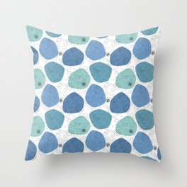 Blood Cells - Blues Throw Pillow
