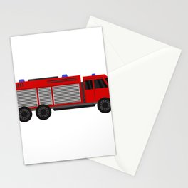 fire truck Stationery Cards
