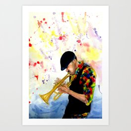 The Colors of Jazz Art Print