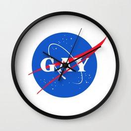 Nasa Gay Pride Logo Wall Clock