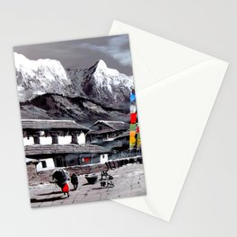 Panoramic View Of Everest Base Camp Stationery Cards