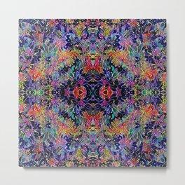 Colorful Seamless Flower Pattern Metal Print