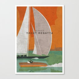 Yacht Regatta Canvas Print