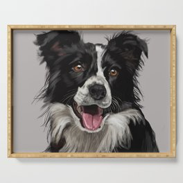 Border Collie Serving Tray