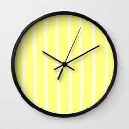 Butter Vertical Brush Strokes Wall Clock