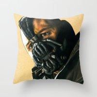 bane Throw Pillows featuring BANE by csmithart