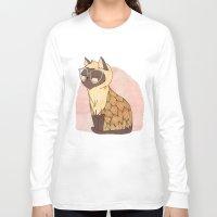 nan lawson Long Sleeve T-shirts featuring Hip Cat by Nan Lawson