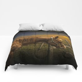 Saddle Horse on the Prairie Comforters