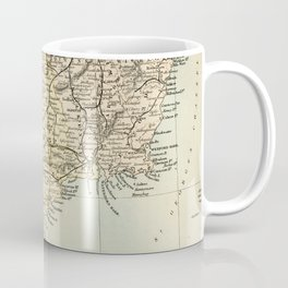 Vintage and Retro Map of Southern Ireland Coffee Mug