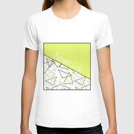The fitness club . Sport . Lemon white creative sport pattern . T-shirt