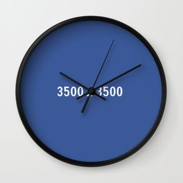 3000x2400 Placeholder Image Artwork (Facebook Blue) Wall Clock