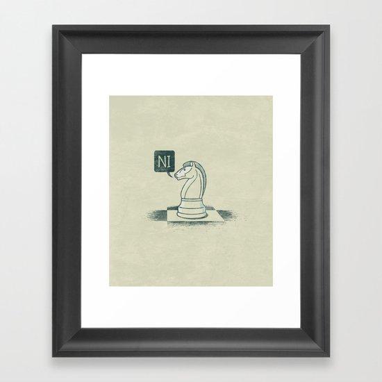 The Knight Who Said Ni Framed Art Print